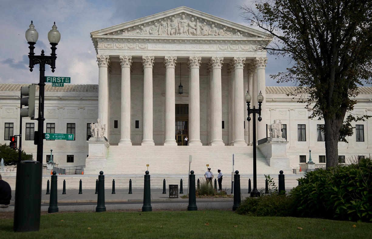 The Supreme Court Building is seen in Washington, Thursday, Sept. 18, 2014, (AP Photo/Carolyn Kaster)