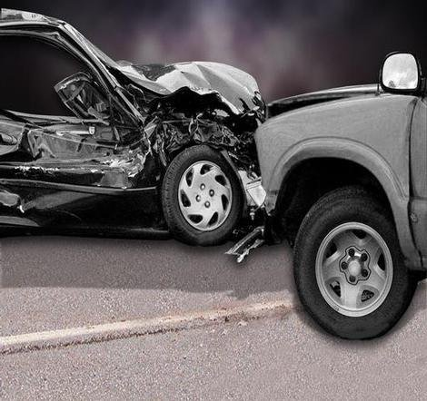 Stock image of a car accident
