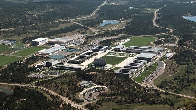 View of the Academy from Eagle Peak. (U.S. Air Force photo/Don Branum)