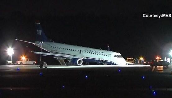 Plane lands on nose in emergency landing