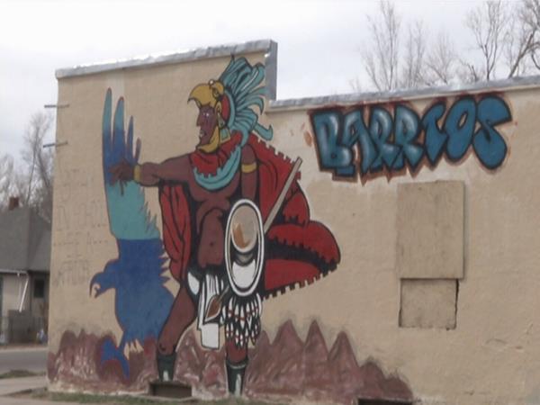 Mural created by Gang Alternative Program of Pueblo with help of East Side neighborhood kids