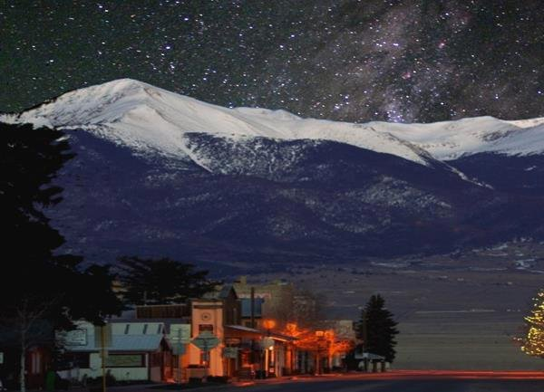 A view of the Milky Way from Main Street in Westcliffe