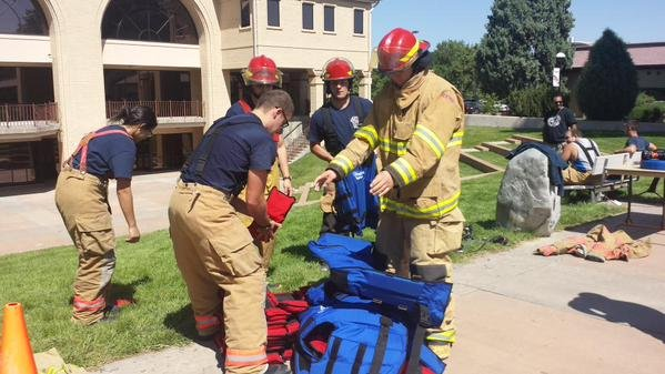 Fire science students at PCC walk 110 flights of stairs to honor 9/11 first responders