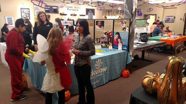 Pueblo parents learned about community services while their kids trick-or-treated at Bessemer Safe Halloween
