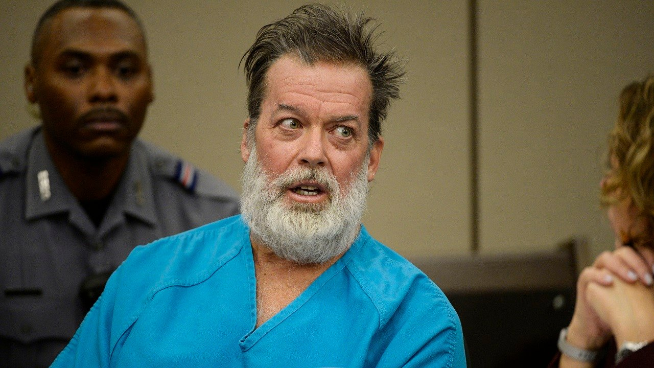 Robert Lewis Dear talks during a court appearance on Wednesday, Dec. 9, 2015, in Colorado Springs, Colo.