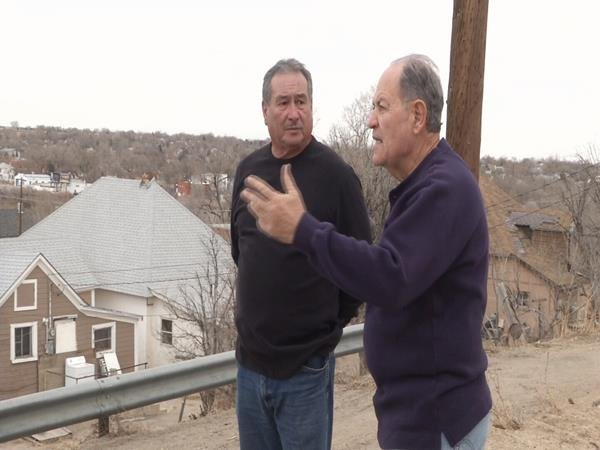 The Pillars founding members Steve Pineda (l) and Joe Latino (r) discuss plans to improve community