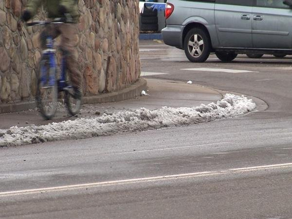Pueblo city crews took advantage of the break in snow to re-treat roads with sand, salt and de-icer