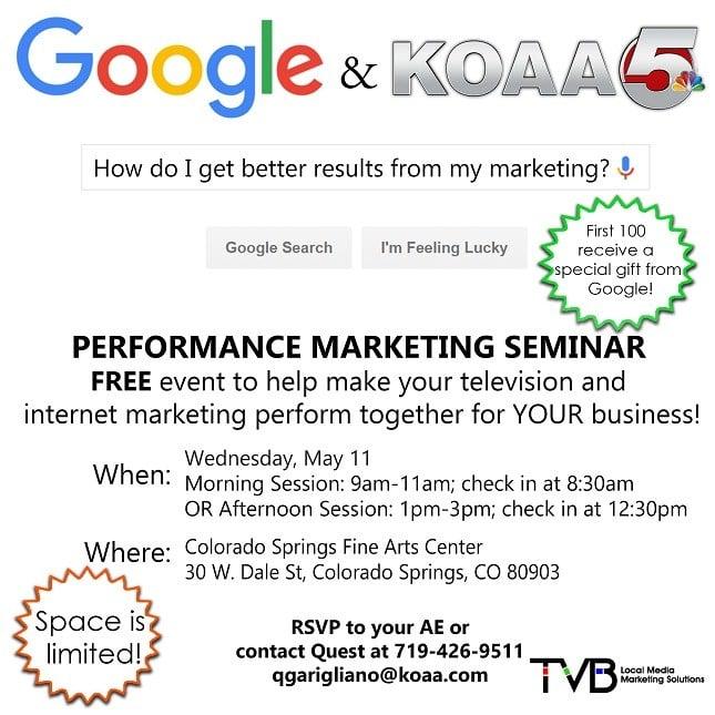 KOAA5 Google Seminar Invite