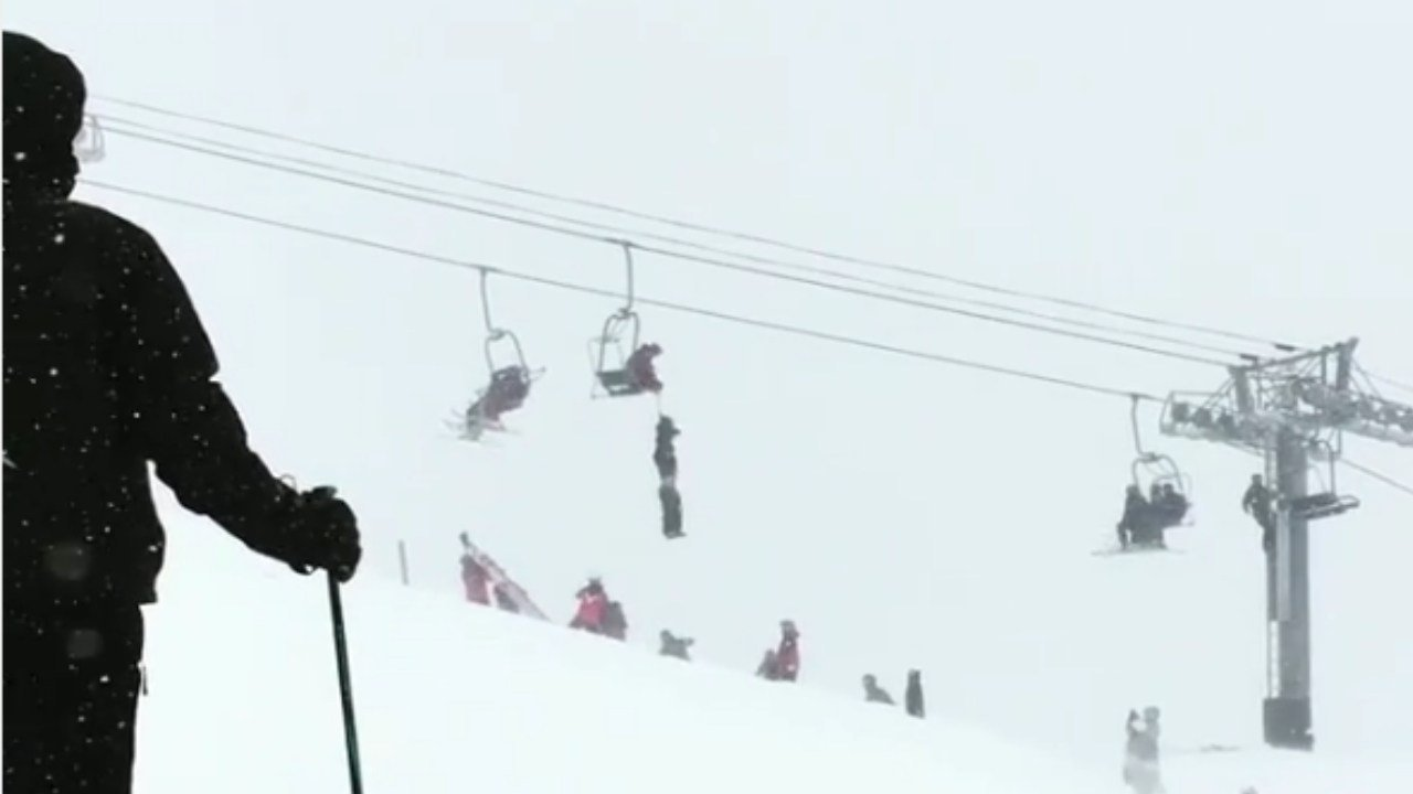 slackliner uses special skills to save friend hanging from chair the daring rescue of an unconscious man from a chairlift at the arapahoe basin ski resort