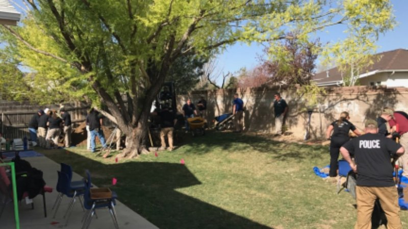 Investigators Searching Backyard Of Home On Manor Ridge Drive Pueblo PD