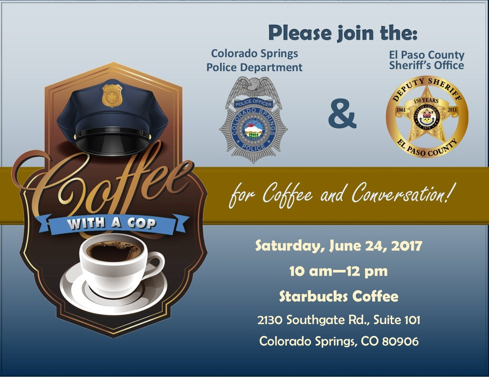 coffee with a cop in colorado springs this weekend koaa