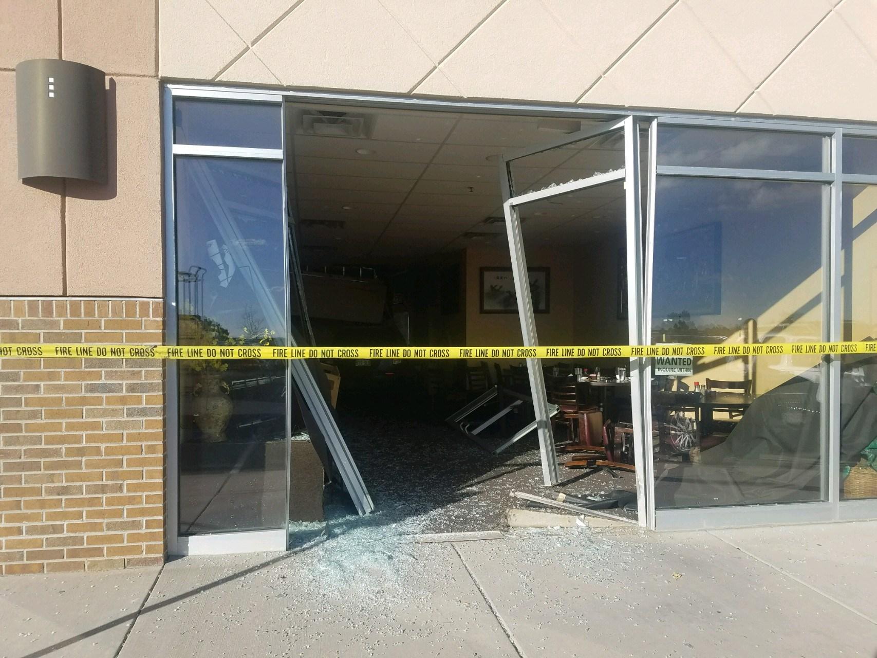 Car Crashes Through Restuarant Colorado Springs