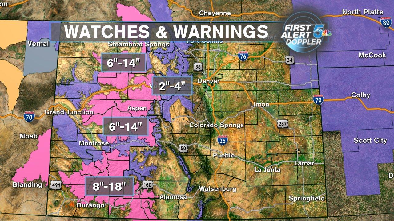 Weather Alert Day: Pikes Peak Region Rain, Snow In The High