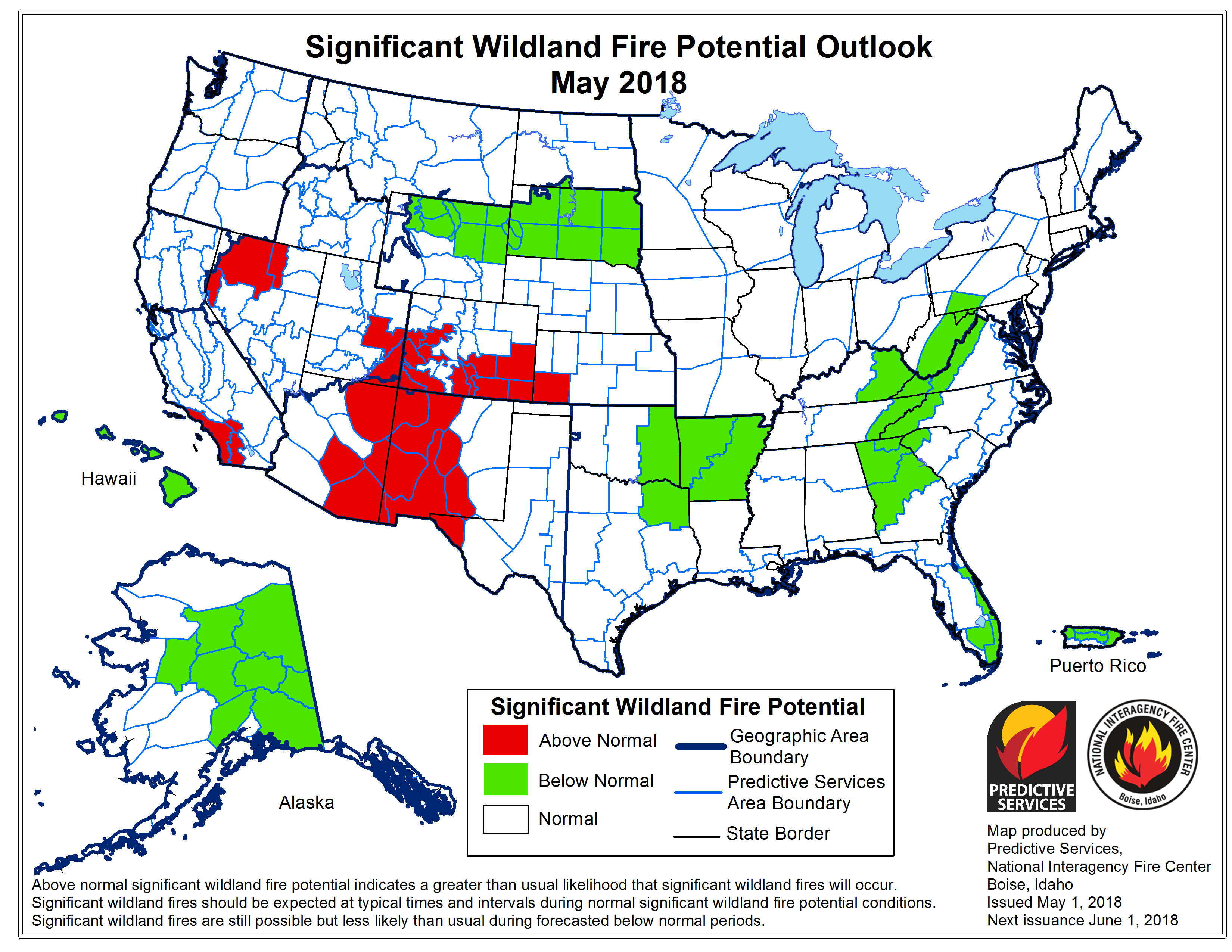 Nifc Large Fire Map.Wildfire Risk Should Decrease Come July Experts Say Koaa Com