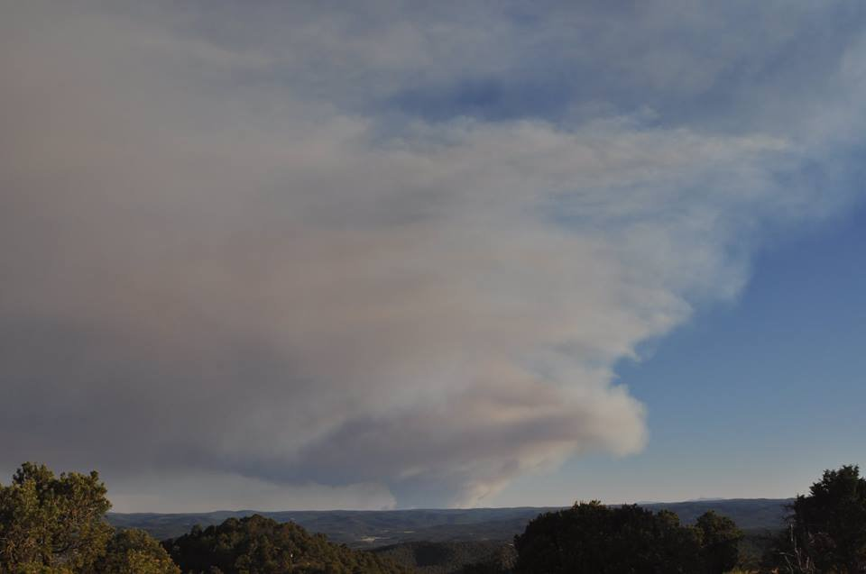 Wildfire jumps, closes state highway in northern New Mexico