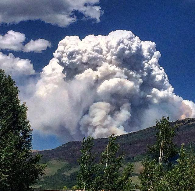 Sugarloaf Fire burning north of Silverthorne