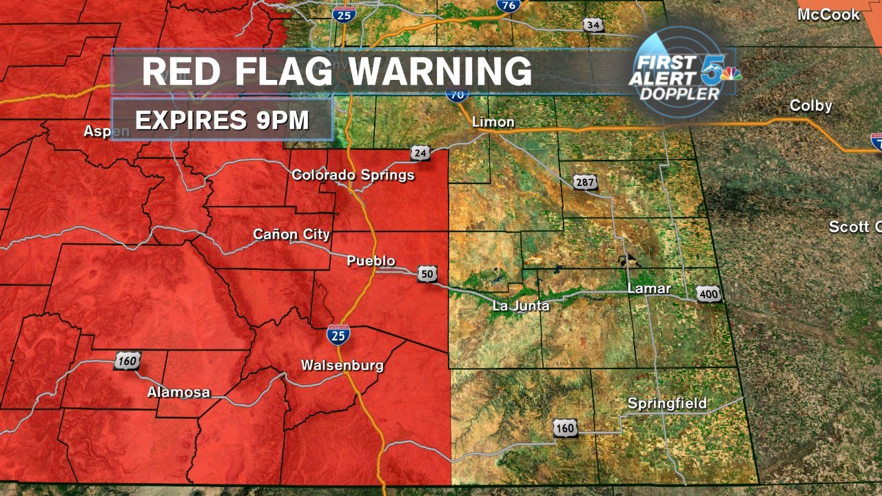 Weather Alert Day: High fire danger today but relief comes